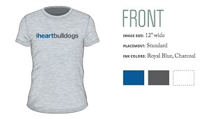 IHEARTBULLDOGS - short sleeve T-shirt